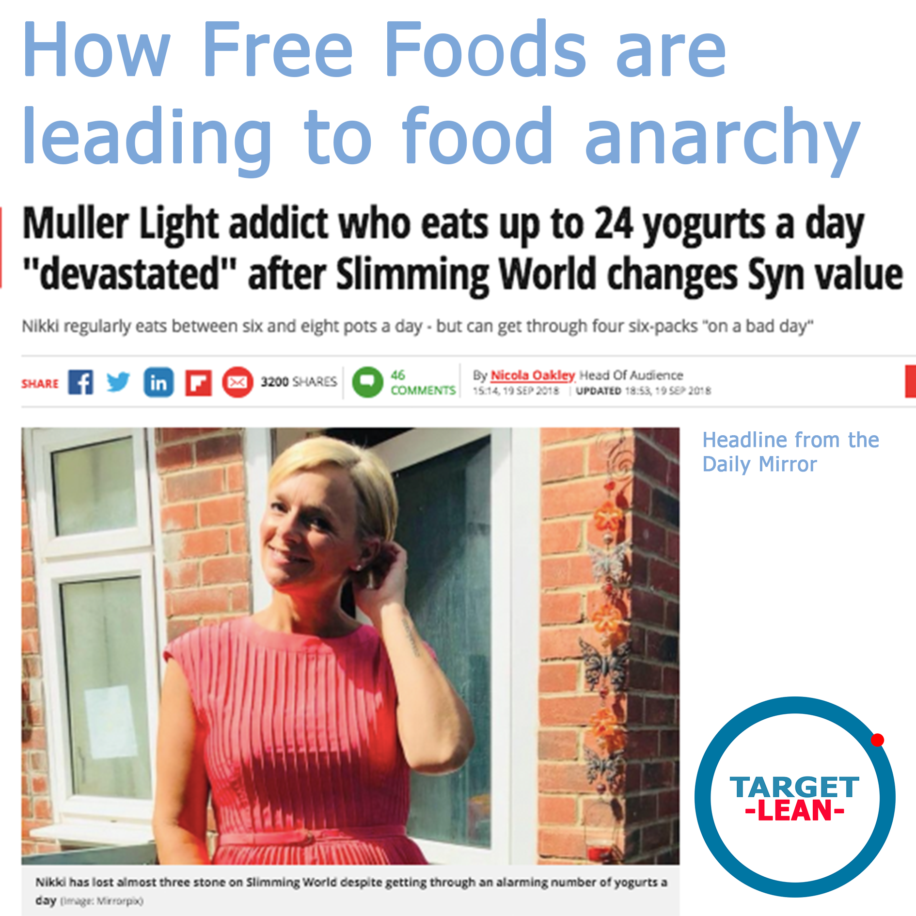 Free Foods Lead To Food Anarchy Slimming World Muller Yoghurt