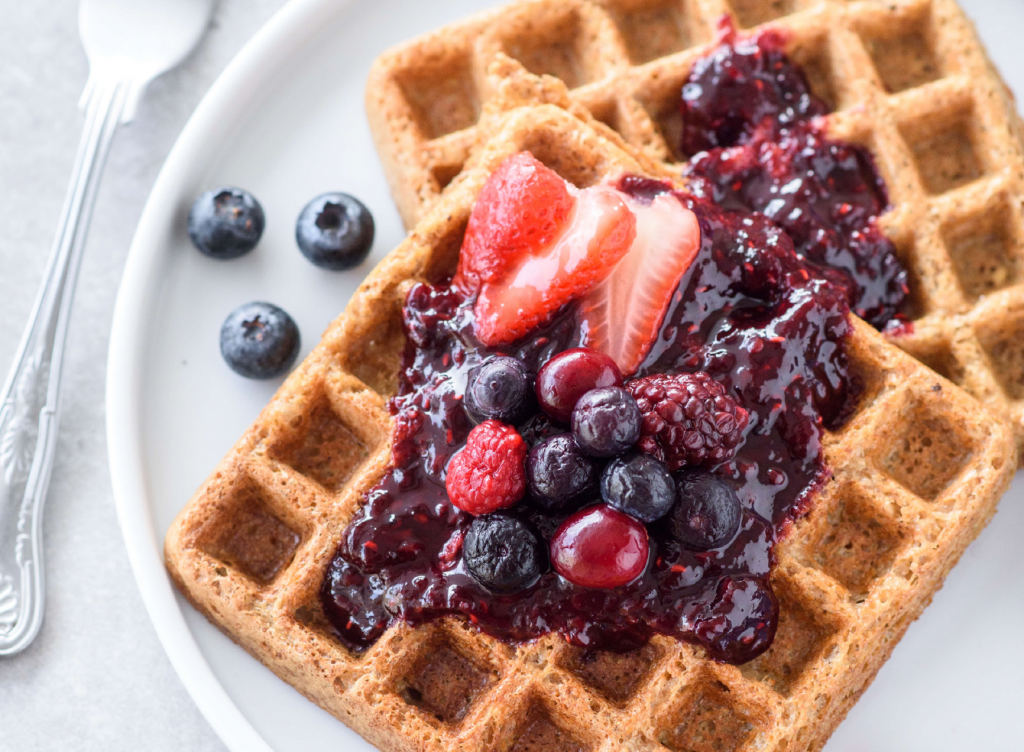 Fat Loss Meal Plan image of waffles and berries
