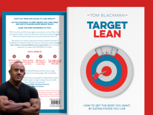 fat loss book - tom with cover of target lean