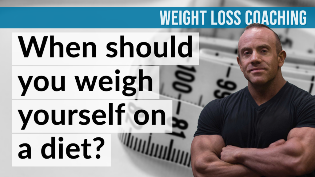 When should you weigh yourself on a diet front cover