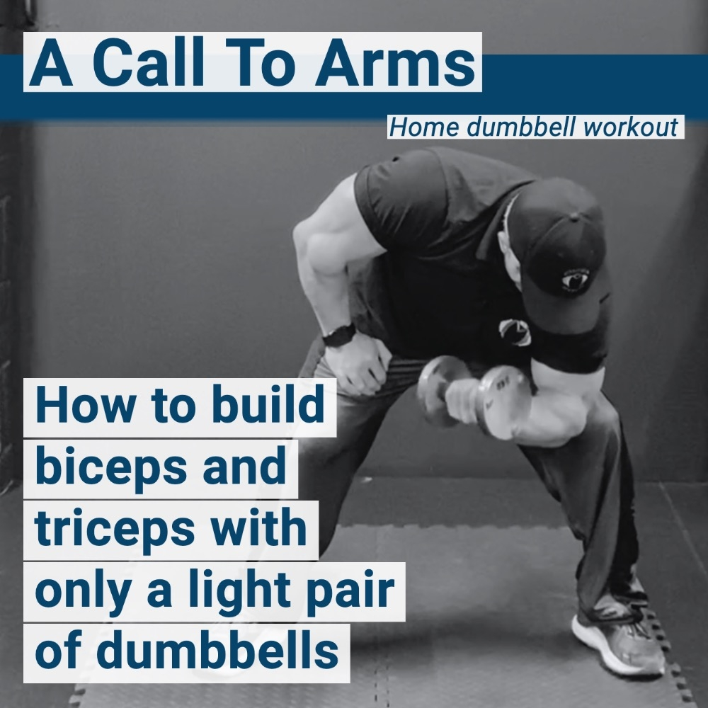 biceps and triceps workout from home