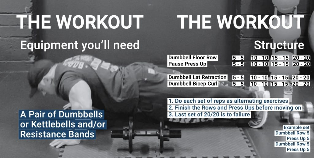 back and chest workout with dumbbells at home