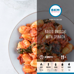 baked gnocchi with spinach