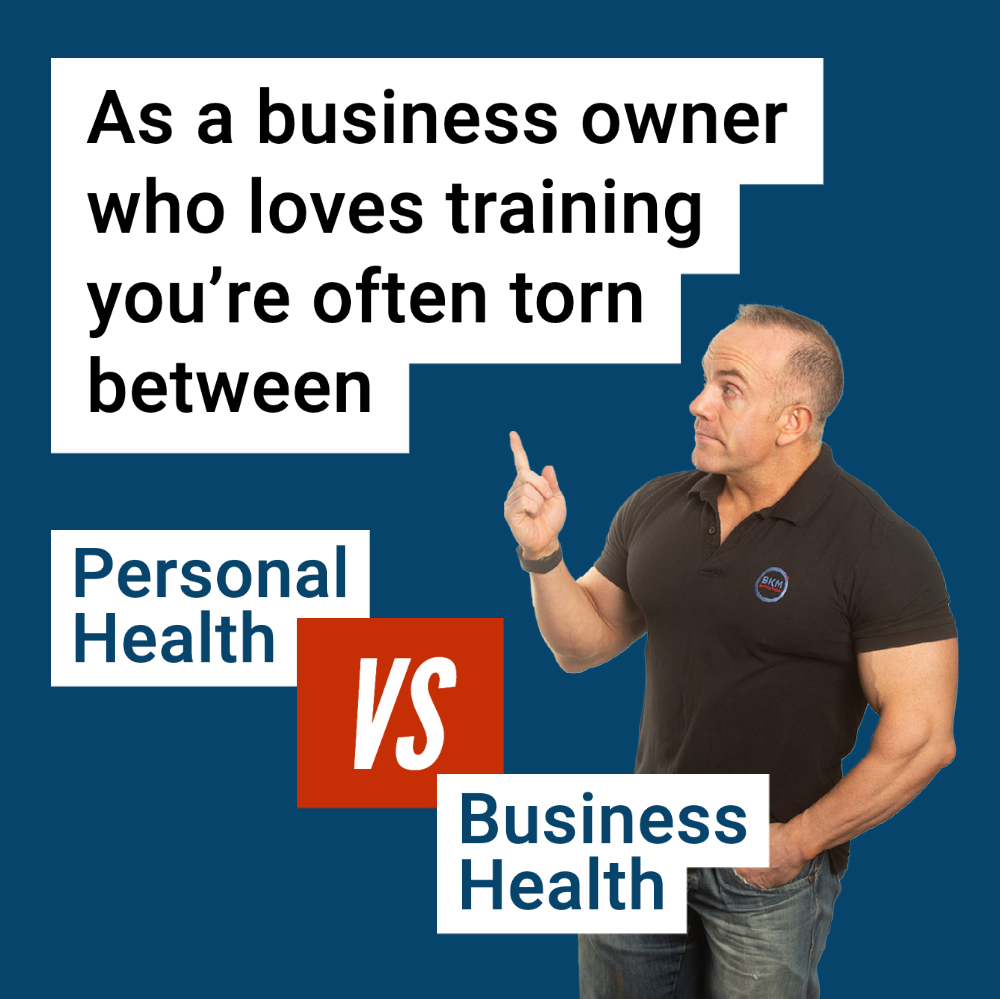 best time to train personal health vs business health